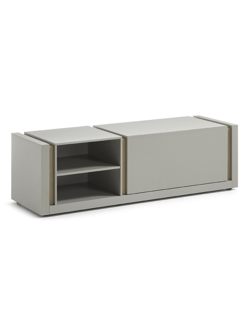 Mueble tv lacado mate gris claro divanoshome for Mueble tv lacado