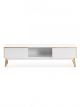 Mueble TV 150x40 DM Lacado Mate Blanco L05