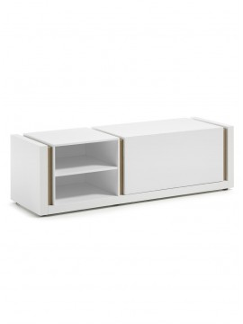 Mueble TV Lacado Mate Blanco Puro
