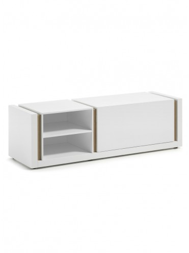 QU 140 Mueble TV Lacado Mate Blanco Puro