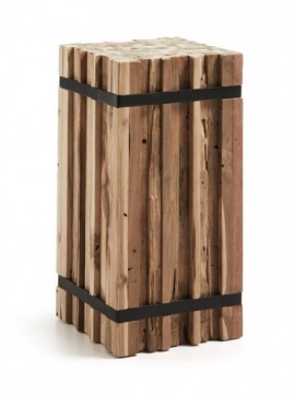 Columna Decorativa Madera Natural M46