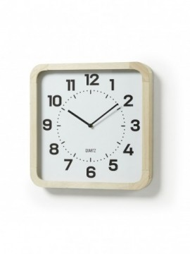 Reloj pared madera natural